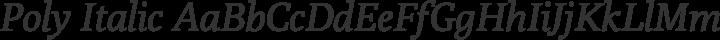 Poly Italic free font