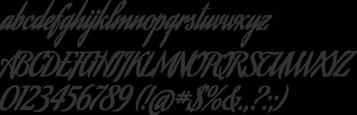 Aguafina Script Font Specimen