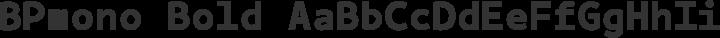 BPmono Bold free font