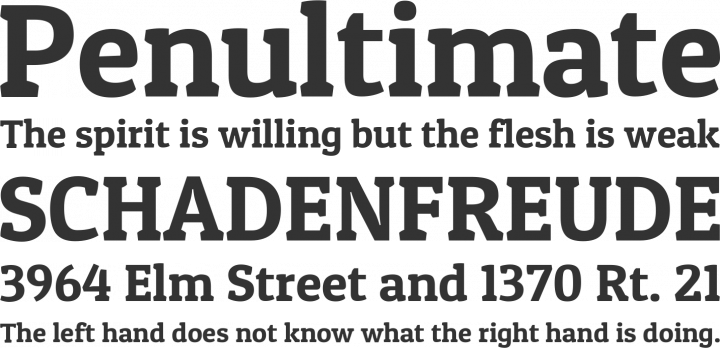 Patua One Font Phrases
