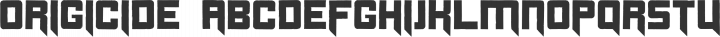 Origicide Regular free font