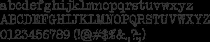 Secret Typewriter Font Specimen
