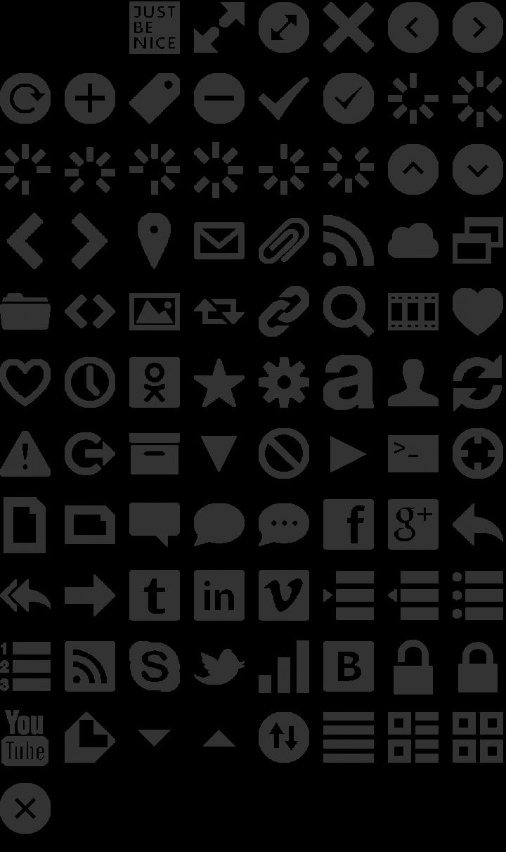 Web Symbols Dingbat Font Specimen