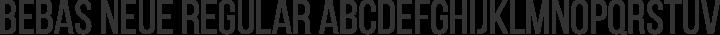 Bebas Neue Regular free font