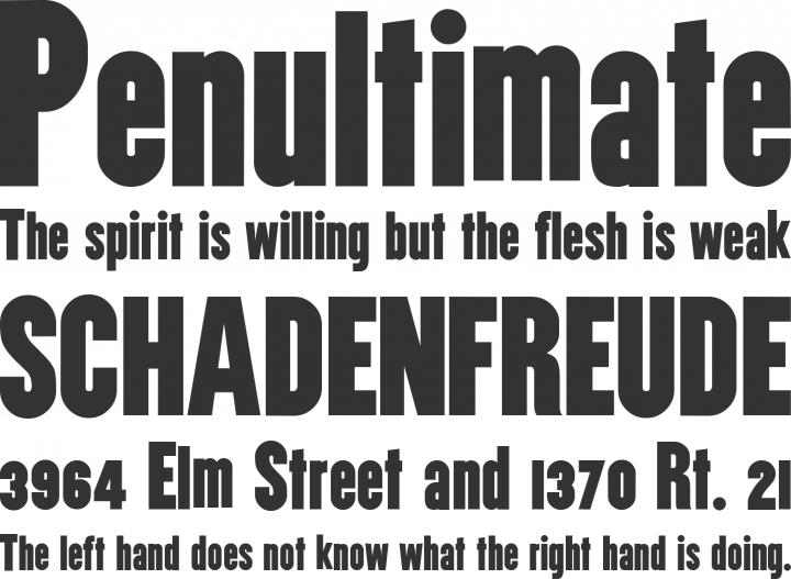 Utility Font Phrases