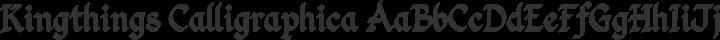 Kingthings Calligraphica Regular free font