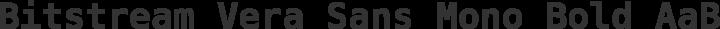 Bitstream Vera Sans Mono Bold free font