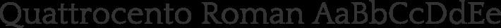 Quattrocento Roman font family by Impallari Type