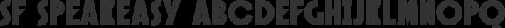 Speakeasy font family by ShyFonts