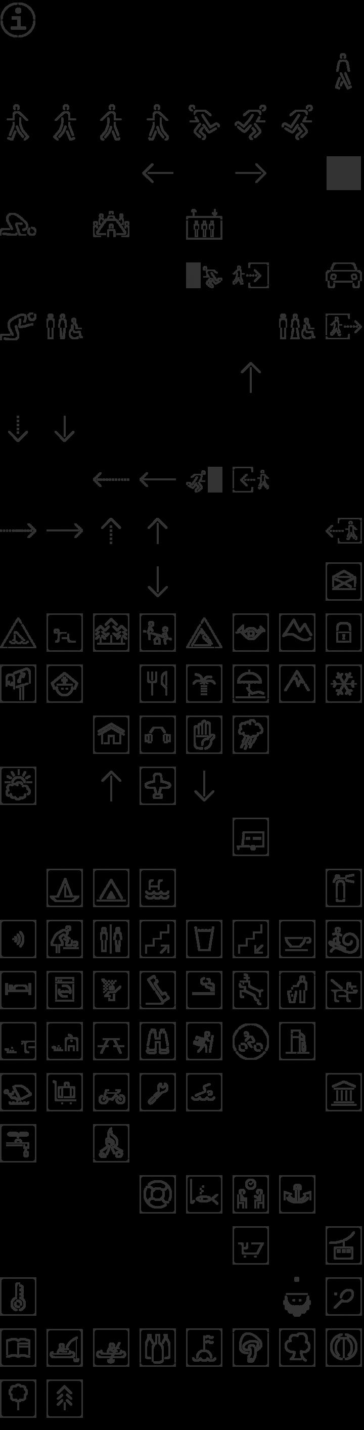 SirucaPictograms Dingbat Font Specimen