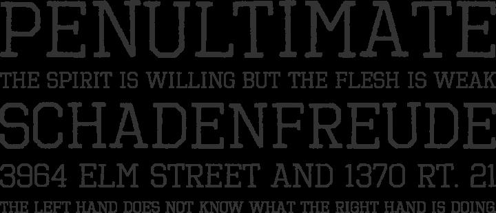 Octin Vintage Font Phrases