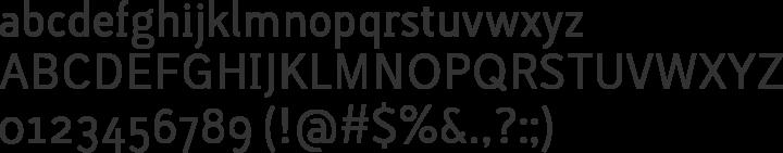 Lacuna Regular Font Specimen