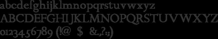 ChanticleerRoman Font Specimen