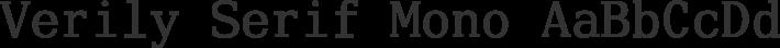 Verily Serif Mono font family by Stephen G. Hartke