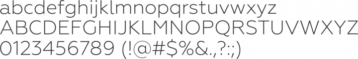 Geometria Light Font Specimen