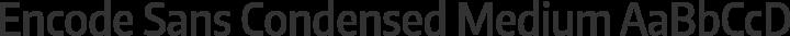 Encode Sans Condensed Medium free font