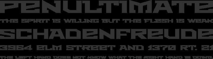 Metro Font Phrases