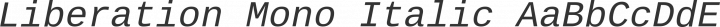Liberation Mono Italic free font
