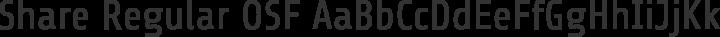 Share Regular OSF free font