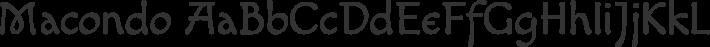 Macondo font family by John Vargas Beltrán