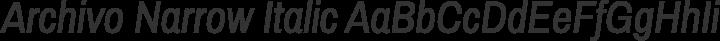 Archivo Narrow Italic free font