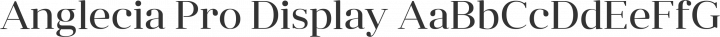 Anglecia Pro Display Regular free font