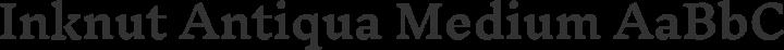 Inknut Antiqua Medium free font