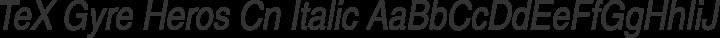 TeX Gyre Heros Cn Italic free font
