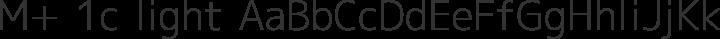 M+ 1c light free font