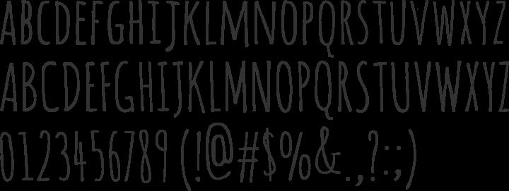 Amatic Font Specimen