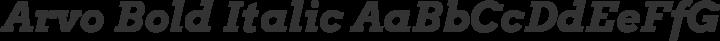 Arvo Bold Italic free font