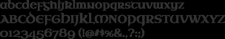 Uncial Antiqua Font Specimen