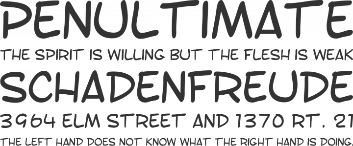 Toontime Font Phrases