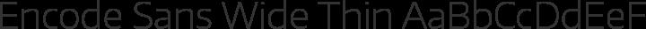 Encode Sans Wide Thin free font