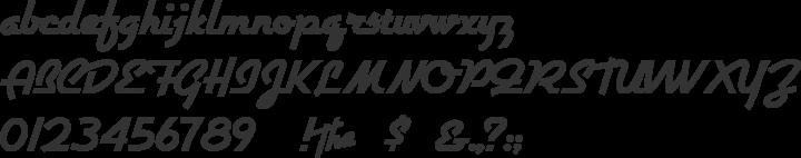 Airstream Font Specimen