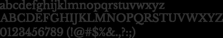 Libre Baskerville Font Specimen