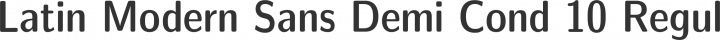 Latin Modern Sans Demi Cond 10 Regular free font
