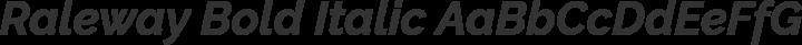 Raleway Bold Italic free font