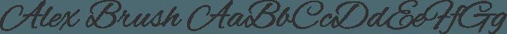 Alex Brush font family by TypeSETit