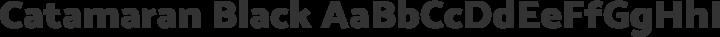 Catamaran Black free font