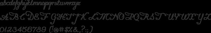 konstytucyja Font Specimen