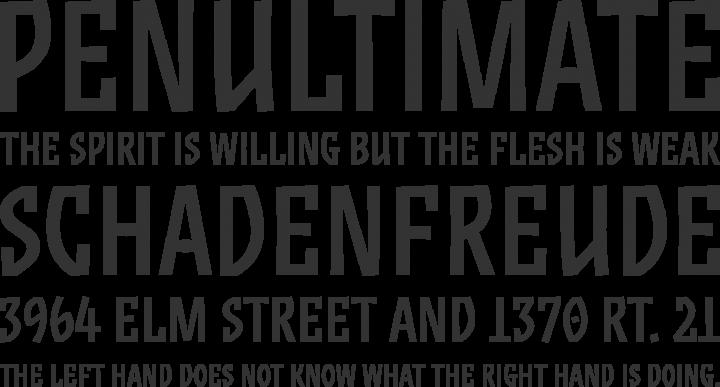 ZalamanderCaps Font Phrases