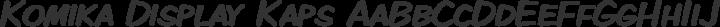 Komika Display Kaps Regular free font
