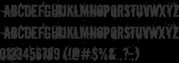 Downcome Font Specimen