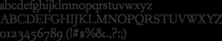 Garogier Font Specimen