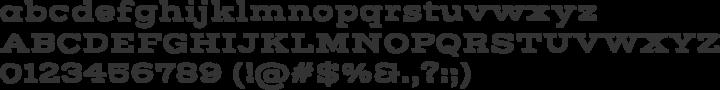 Vast Shadow Font Specimen