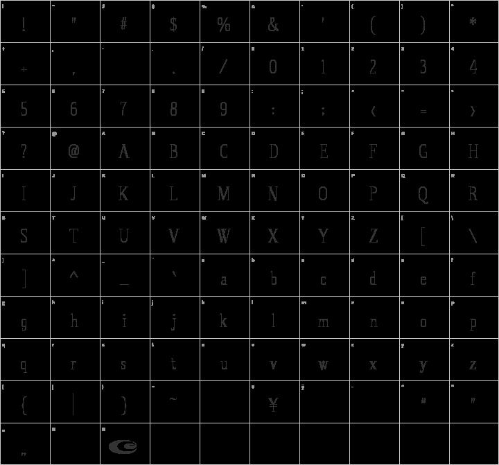 Spirequal Light Glyph Map