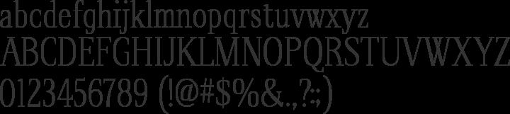 Spirequal Light Font Specimen