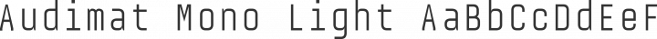 Audimat Mono Light free font