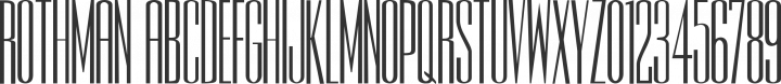 Rothman Plain free font